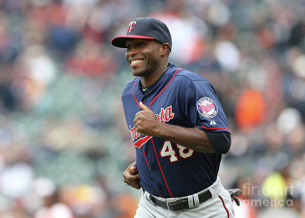 People Art Print featuring the photograph Torii Hunter by Leon Halip
