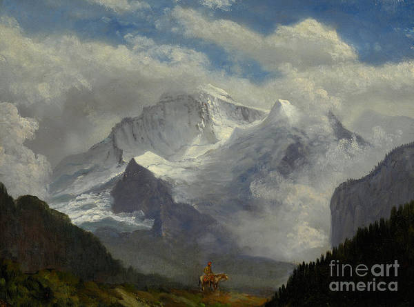 Silhouette Art Print featuring the painting Above The Timberline by Celestial Images