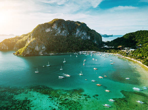 Aerial View Of El Nido Palawan Island Philippines 1 Art Print