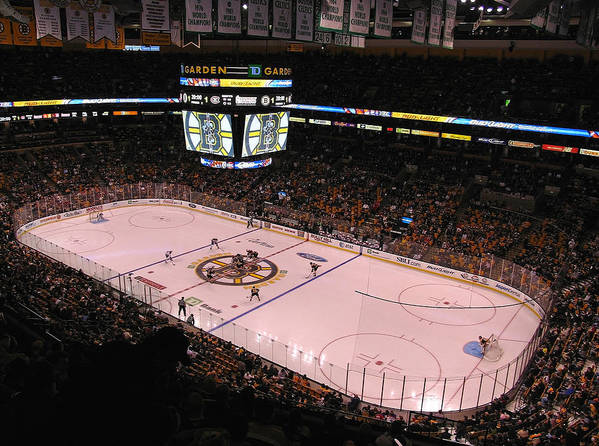 Boston Print featuring the photograph Boston Bruins by Juergen Roth