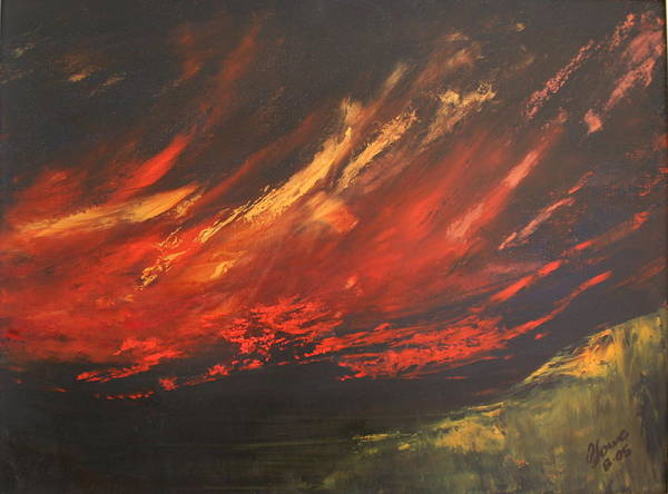 Clouds Art Print featuring the painting Camberwell Skies by Jan Lowe