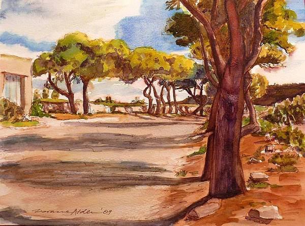 Landscape Art Print featuring the painting Country Lane by Doranne Alden