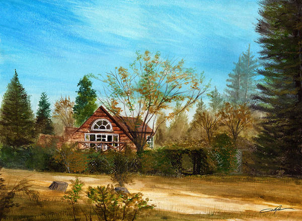 Strawberry Lodge Print featuring the painting Strawberry Lodge by Dale Jackson