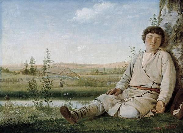 Horizontal Art Print featuring the photograph Venetsianov, Aleksey Gabrilovitch by Everett