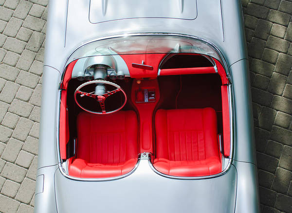 1960 Chevrolet Corvette Interior Print featuring the photograph 1960 Chevrolet Corvette Interior by Jill Reger