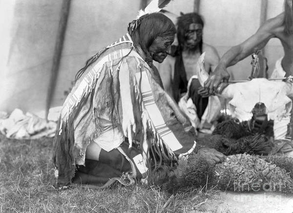 1907 Art Print featuring the photograph Sioux Medicine Man, C1907 by Granger
