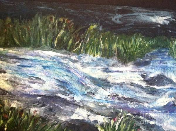 Orchards Art Print featuring the painting A River Runs Through by Sherry Harradence
