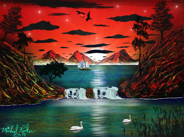 Heaven Art Print featuring the painting Almost Heaven by Michael Rucker