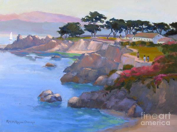 California Art Print featuring the painting Along The Coast by Rhett Regina Owings