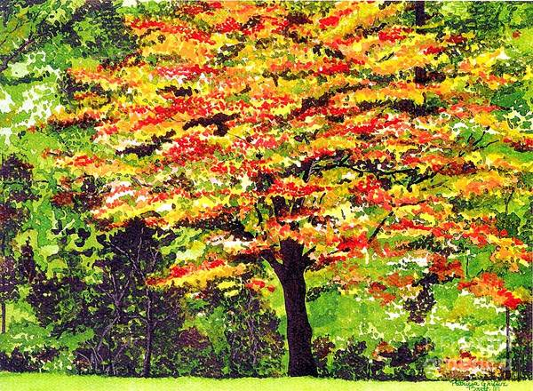 Fine Art Art Print featuring the painting Autumn Splendor by Patricia Griffin Brett