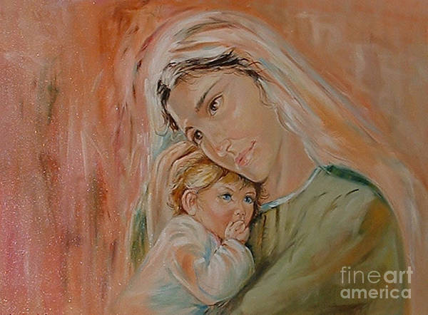 Classic Art Art Print featuring the painting Ave Maria by Silvana Abel