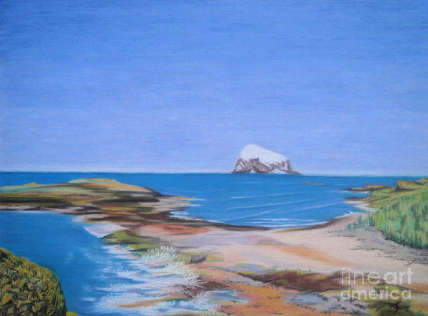 Bass Rock Art Print featuring the painting Bass Rock North Berwick by Yvonne Johnstone