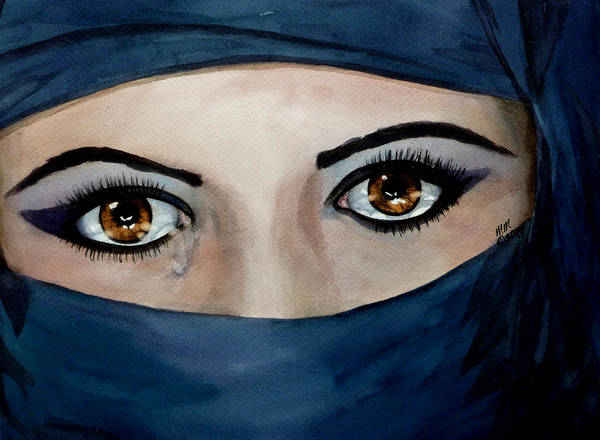 Jihad Art Print featuring the painting Beyond The Veil by Michal Madison