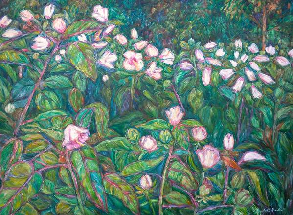 Radford City Wildflower Paintings Art Print featuring the painting Bisset Park Hibiscus by Kendall Kessler