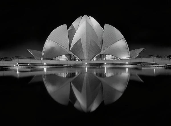 Architecture Art Print featuring the photograph Black Contrast by Nimit Nigam
