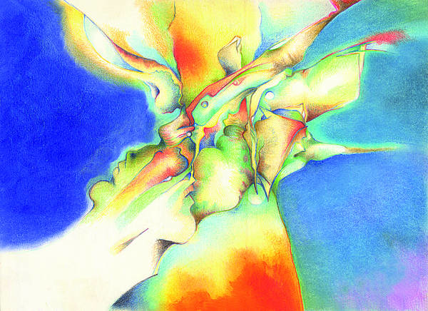 Abstract Art Print featuring the painting Bluebox by Bodhi