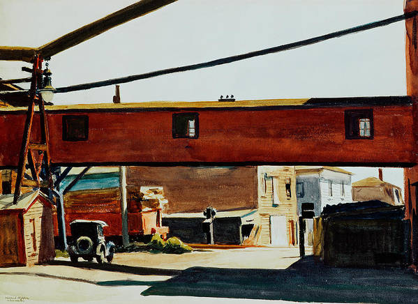 Box Factory Art Print featuring the painting Box Factory by Edward Hopper