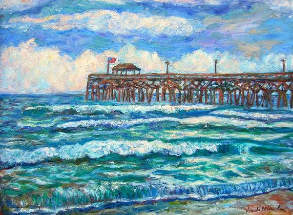 Shore Scenes Art Print featuring the painting Breakers At Pawleys Island by Kendall Kessler