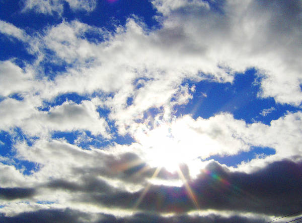 Sky Art Print featuring the photograph Breaking Through by J Andrel
