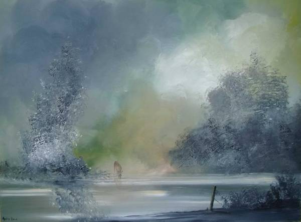 Landscape Art Print featuring the painting Brief Respite by Andy Davis