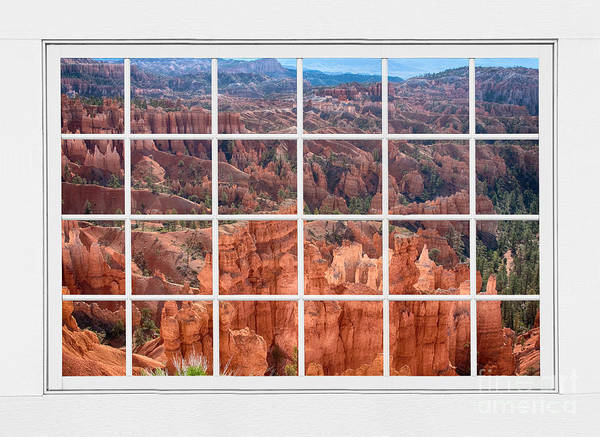 Bryce Canyon Print featuring the photograph Bryce Canyon White Picture Window View by James BO Insogna