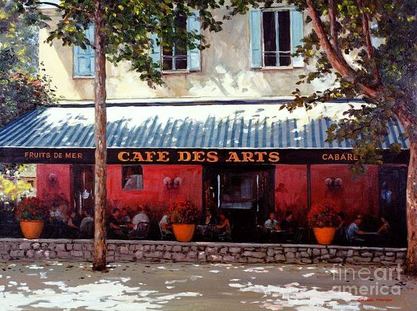 Cafe Des Arts Art Print featuring the painting Cafe Des Arts  by Michael Swanson