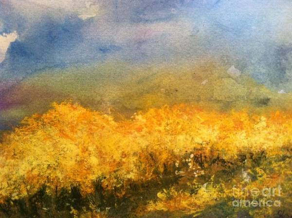 Orchards Art Print featuring the painting California Orchards by Sherry Harradence