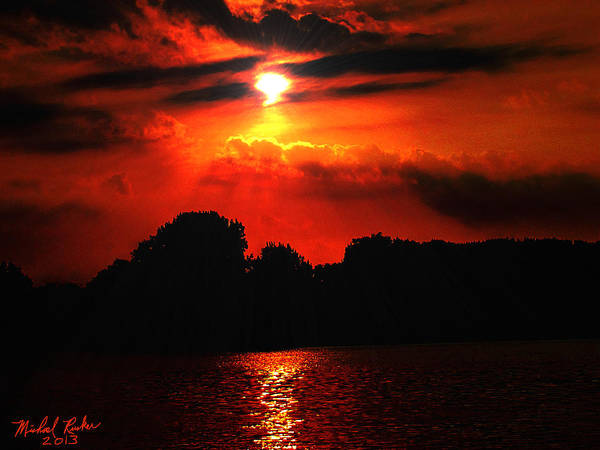 Sunrise Art Print featuring the photograph Canadian Sunrise by Michael Rucker