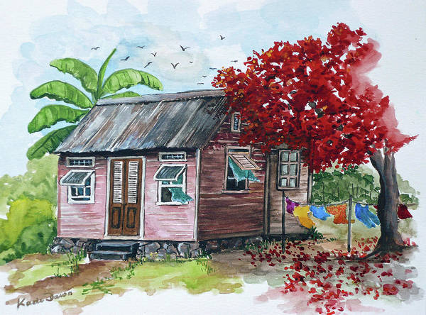 Caribbean House Art Print