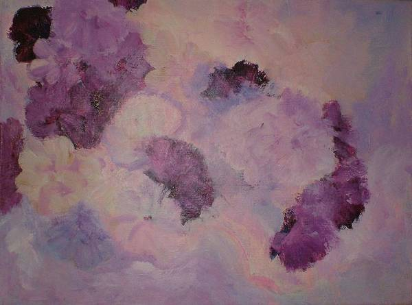 Flowers Art Print featuring the painting Carnations Floating by Rashne Baetz