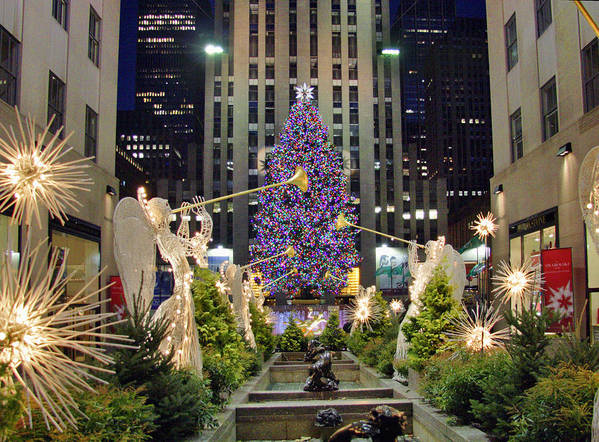 Christmas Art Print featuring the photograph Christmas In New York by June Marie Sobrito