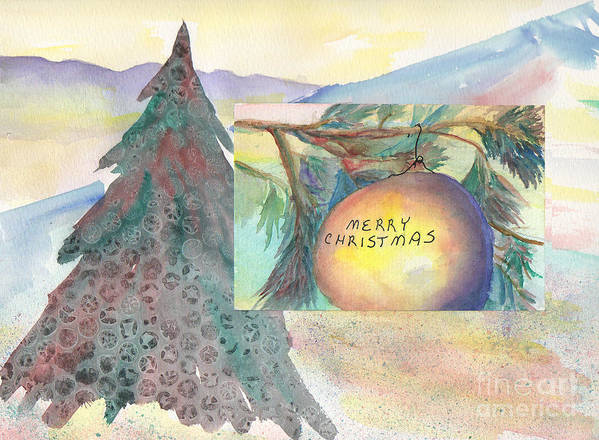 Christmas Painting Art Print featuring the painting Christmas In The Mountains by Steve Borzcik