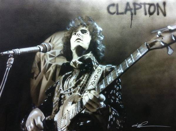 Eric Clapton Art Print featuring the painting Clapton by Christian Chapman Art