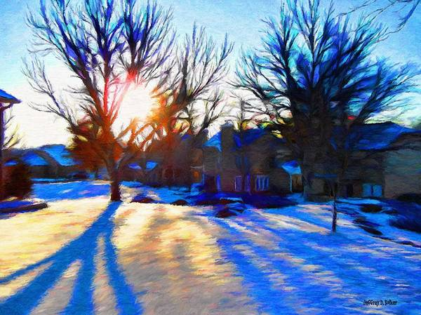 Cold Print featuring the painting Cold Morning Sun by Jeff Kolker