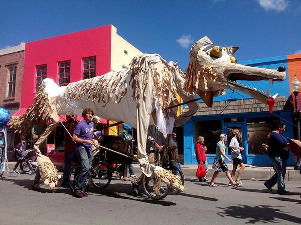 Monsoon Puppets Print featuring the photograph Coyote On Parade by Feva Fotos