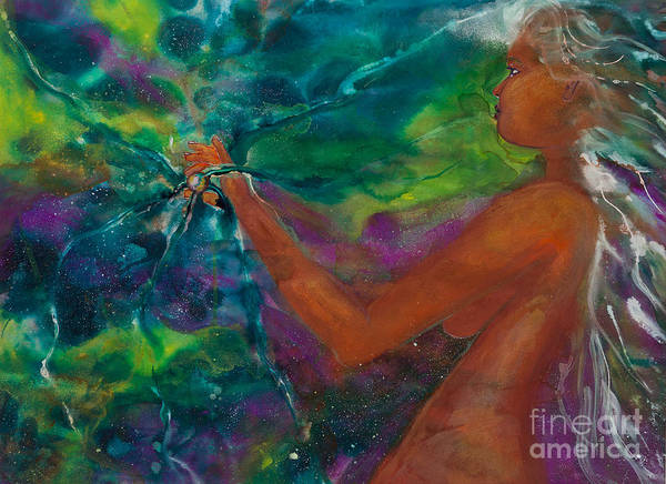 Female Art Print featuring the painting Defining Her Essence by Ilisa Millermoon