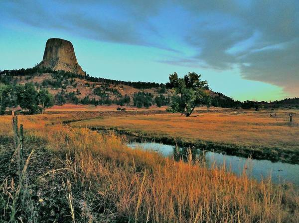 Devils Tower Art Print featuring the photograph Devils Tower Daybreak by Benjamin Yeager
