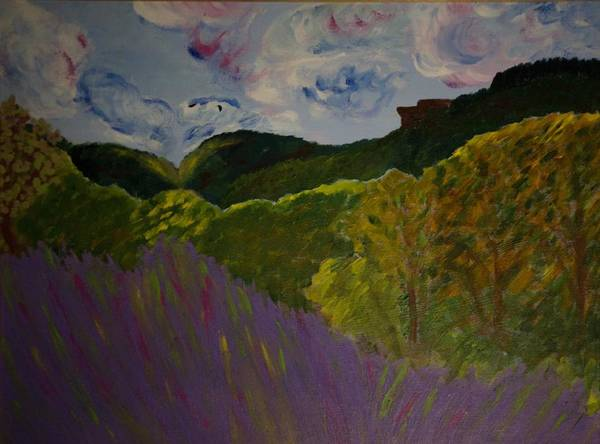 Landscape Art Print featuring the painting Dundas Peak by Rashne Baetz