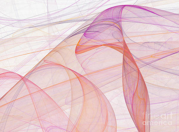Color Art Print featuring the digital art Elegant Abstract Background by Odon Czintos