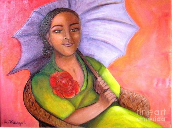 Rose Art Print featuring the painting Enchanted Rose by Laurie Morgan