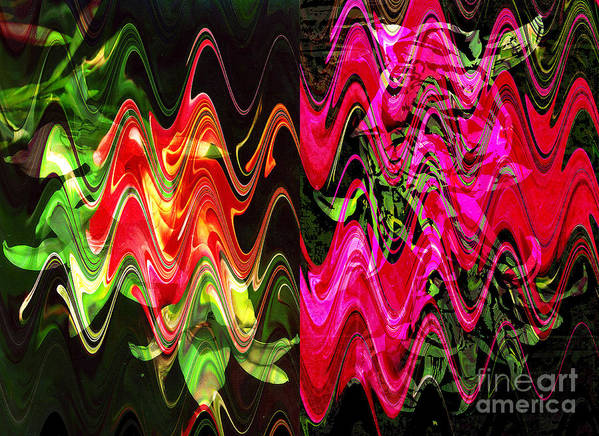 Abstract Art Print featuring the digital art Energy by Yael VanGruber