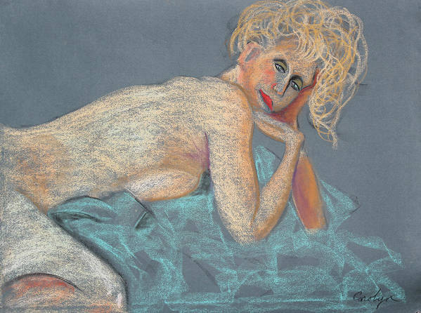 Artistic Nude Art Print featuring the painting Forever Coquette by Asha Carolyn Young