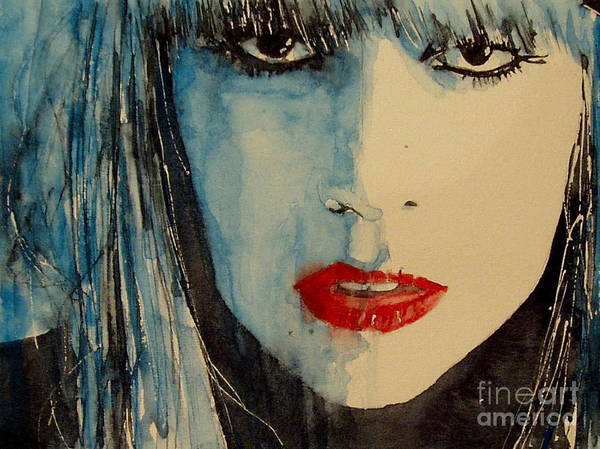 Lady Gaga Art Print featuring the painting Gaga by Paul Lovering