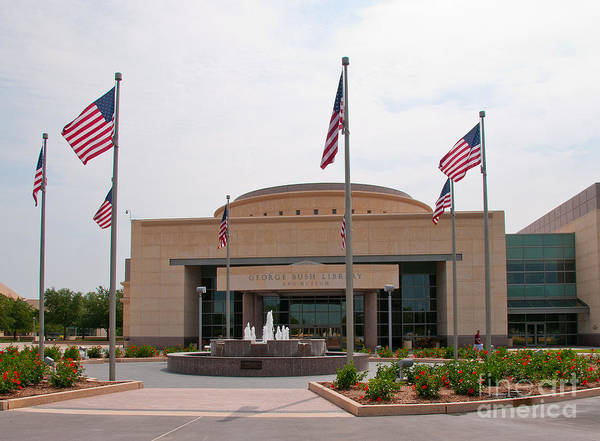 George Bush Presidential Library Art Print featuring the photograph George Bush Presidential Library by Mae Wertz