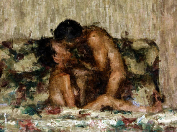 Nudes Art Print featuring the photograph I Adore You by Kurt Van Wagner