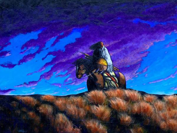 American Indian Art Print featuring the painting In Search Of The Vanished by Joe Triano