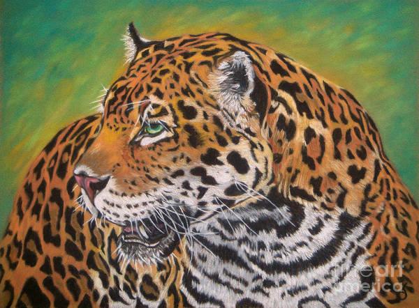 Jaguar Art Print featuring the painting Jaguar by Yvonne Johnstone
