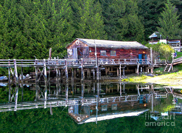 British Columbia Print featuring the photograph Lagoon Cove by Robert Bales