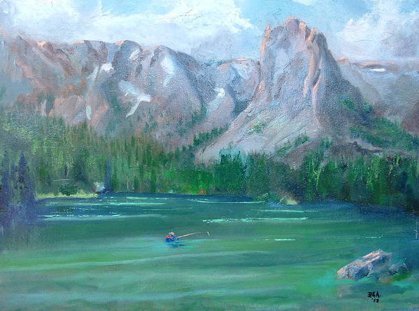 Landscape Art Print featuring the painting Lake Mamie by Bryan Alexander