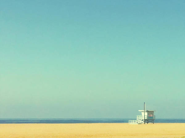 Tranquility Art Print featuring the photograph Life Guard Tower by Denise Taylor